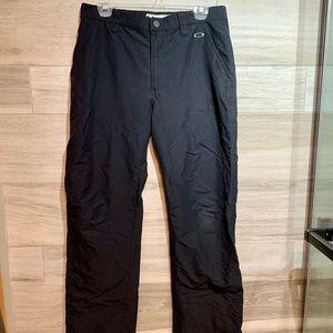 Excellent OAKLEY Track Pants Black Straight Leg 32